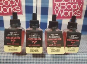 NEW! Bath & Body Works FIRECRACKER POP Wallflower refills X4 FREE SHIP