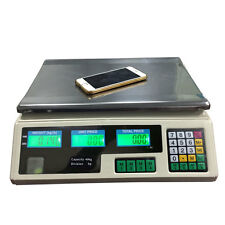 88LB 40kg Digital Scale Price Computing Food Electronic Counting Weight +Charger
