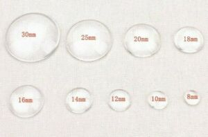 MAKE YOUR OWN  GLASS CABOCHON   Flatback Charms & Cabachons  GOOGLY EYES  NEW