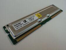 Toshiba RAM Memory Module 128MB PC800-45 RDRAM RIMM 184-Pin RAMBUS THMR1E8E-8