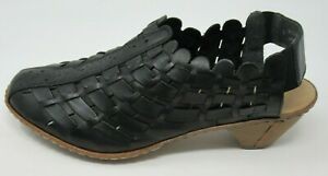 Rieker 46778 Leather Synthetic Casual Slip-On Heeled Slingbacks Damen Schuhe