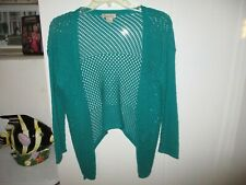 LUCKY BRAND OPEN WEAVE 5 BUTTON SWEATER SIZE S