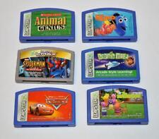 Lot 6 LeapFrog LEAPSTER games Backyardigans,Cars,Cosmic Math,Animal Genius,Nemo
