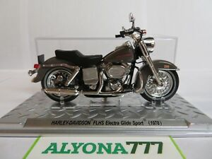 1/24 Altaya HARLEY DAVIDSON FLHS Electra Glide Sport 1978 Bike Motorcycle 1:24