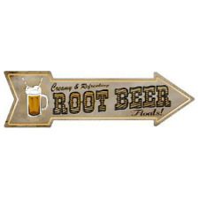 Outdoor/Indoor Root Beer Floats Wall Decor Novelty Metal Arrow Sign 5 x 17