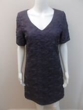 AS NEW JIGSAW BLUE.SILK,QUILTED DRESS WITH POCKET SIZE 10 (#I1571)