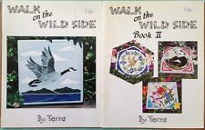 Lot of 2 Walk on the Wild Side Book I & II Terra Parma Stained Glass Images 1