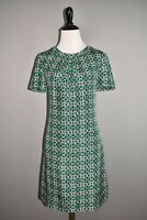 J.CREW $178 Silk Swoop Dress in Latticework Medallion Open Back Size 4