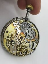 Repeater Quarter Chronograph Movement Pocket Initiative Watch Swiss.Working Cond