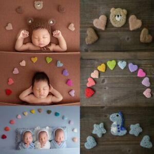 5/7/10 Pcs/Set Newborn Photography Props DIY Handmade Baby Wool Felt Dinosaurs