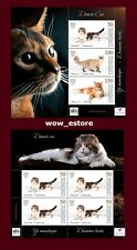 Stamps of Kyrgyzstan-Domestic cats & Scottish fold - 2 Souvenir Sheets
