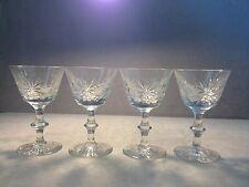 Set Of 4 Edinburgh Crystal Star Of Edinburgh Champagne Sherbet Glasses
