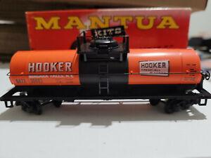 HO Scale Vintage Mantua Hooker Chemical Tank Car, Niagara Falls, W/Original box