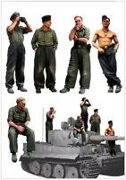 1/35 Scale Resin Model Figures Kit WW2 Big Set German Panzer Crew (5 Figures)