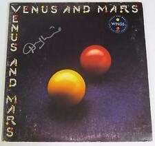 "Denny Laine PAUL McCARTNEY & WINGS Signed Autograph ""Venus & Mars"" Album LP"