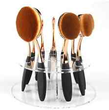 Oval Makeup Brush toothbrush holder Clear Round Acrylic DisplayOrganiser Fits10