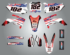 HONDA CRF 450 - 2009 / 2012 Full  Custom Graphic  Kit -AUSSIE PRIDE - stickers