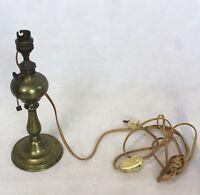 Ancienne Lampe en Laiton - imitation Pétrole - Années 70