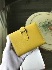 100% Authentic Hermes Portefeuille Bearn  Leather Wallet Yellow