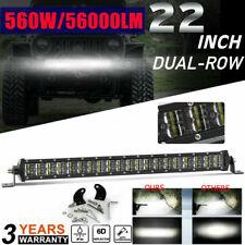 "6D Silm Dual ROW 22INCH CAR Led Work Light Bar Combo Beam Driving PK 20"" 23"" 24"