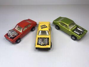 Job Lot Of 3 Vintage Matchbox Rolamatics Ford Capri Hot Rockers Loose