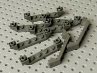 Lego Slope Inverted Double 6x1 with Recessed Center [52501] Dark Grey x8