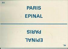 PLAQUE DE DIRECTION SNCF PARIS-EPINAL // NANCY- PARIS