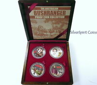 2003 BUSHRANGERS Fine Silver Proof Four 2oz Silver Coin Set
