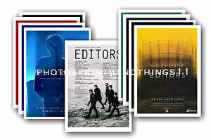 EDITORS  - 10 promotional posters - collectable postcard set # 1