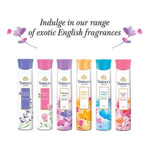 Yardley London Deo Body Spray English Lavender, English Rose, Morning Dew 150ml
