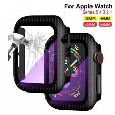Full Carbon Fiber Screen Protector Glass Film For Apple Watch series 5 4 3 2 1