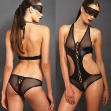 Super Sexy Women Lace Siamese Lingerie Lingerie Sleepwear Underwear Goggles 2PCs