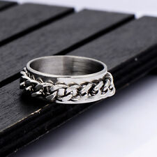 Wholesale Biker Chain Stainless Steel Spin Band Ring Size 8.5 Cool