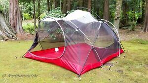 MSR Mutha Hubba Backpacking Camping Tent W/ Footprint / Rainfly ~ 3 Season.