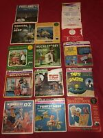 Vintage Sawyer Viewmaster Lot With Many Slides And 3 Viewers