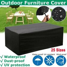 More details for heavy duty waterproof garden patio furniture cover for rattan table cube outdoor