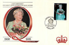 (88218) FDC Sierra Leone Queen Mother 95th Birthday 1995.