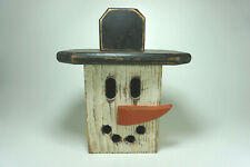 Snowman Country Wood Decor Lantern Christmas Holiday Winter Electric Light Lamp