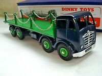Atlas Dinky Supertoys No.505/905 Blue Foden Flat Truck with Chains Mint/boxed