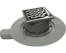 SQUARE POINT FLOOR WETROOM SHOWER DRAIN  VIEGA, stainless steel 100x100mm