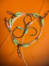 HAND MADE TRACE 100LB RIGS JIGS ULTIMATE 3 HOOKS JAPAN  6/0 8/0 BEAKS 7/0 CIRCLE