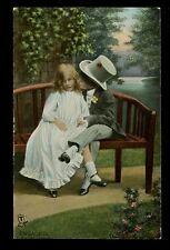 Romance children Engaged Tuck Rapholette 8059 vintage PPC