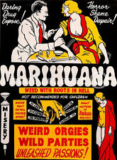 Marihuana Weed With Roots In Hell Vintage Movie Poster 18x24
