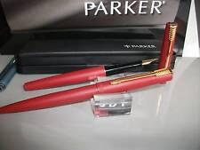 Parker  15  Pluma Estilografica  y Boligrafo  Laque matte red  , GT. NIB