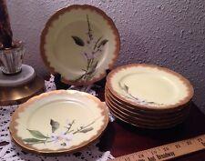 Limoges Charles Field 9 Salad Plates CFH / GDM Antique France Flowers