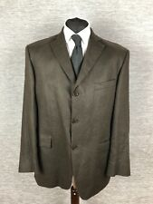 Marks and Spencer mens Linen Blazer Size 42S Brown