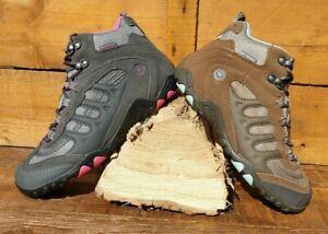 Ladies Hi Tec Penrith Mid Waterproof Lace Up Hiker Boots