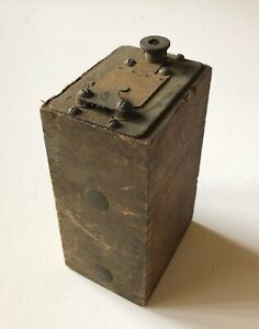 Ford Model A or T Battery Box Ignition Coil Wood Finger Jointed Antique