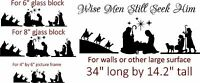 Nativity Scene vinyl for walls or DIY Glass silhouettes art decal Christmas