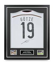 Mario Gotze Signed Germany Shirt Framed Autograph WC 2014 Jersey Memorabilia COA